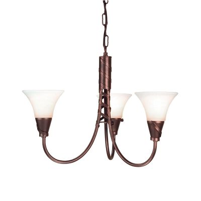 Emily 3 Light Fitting finished in Copper Patina with Opal Glass Shades - ELSTEAD EM3 CP